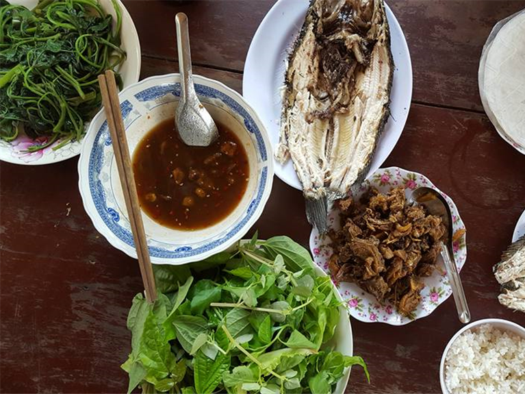Grilled snakehead fish in Mekong Delta